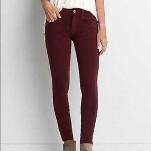 American Eagle Outfitters Burgundy Skinny Jeggings